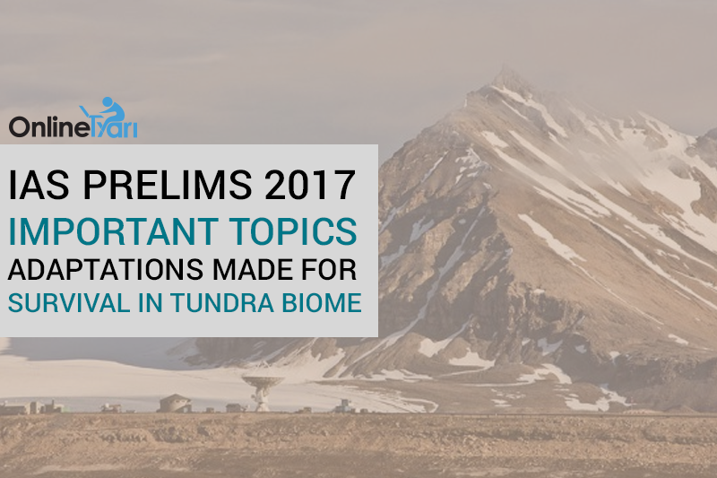 IAS-Prelims-2017-Important-topics-Adaptations-Made-for-Survival-In-Tundra-Biome