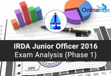 IRDA-Junior-Officer-Exam-Analysis-2016