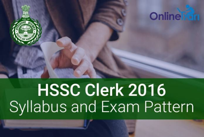 HSSC-Clerk-Syllabus-Exam-Pattern-2016