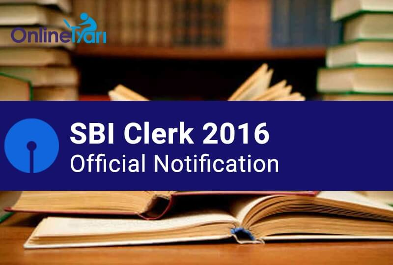 SBI Clerk Junior Associate Recruitment 2016