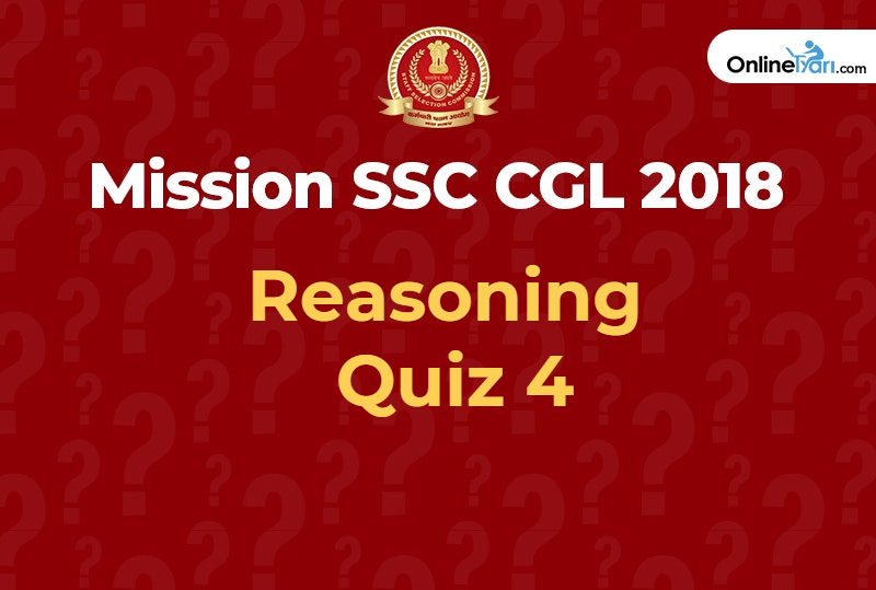 SSC CGL reasoning quiz 4